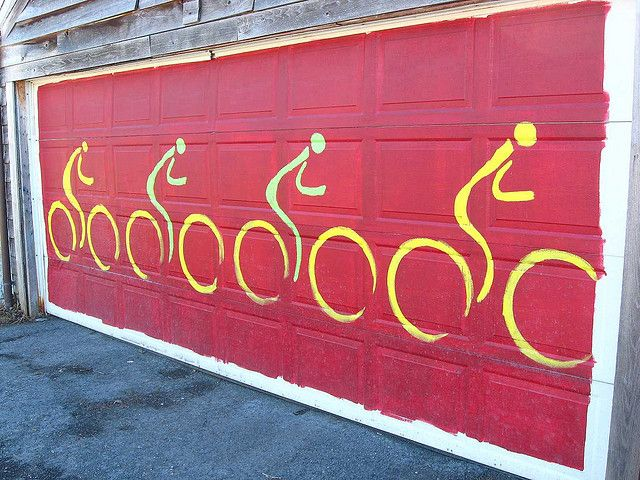 Four Bike Garage Beautiful Doors Pinterest Garage Doors