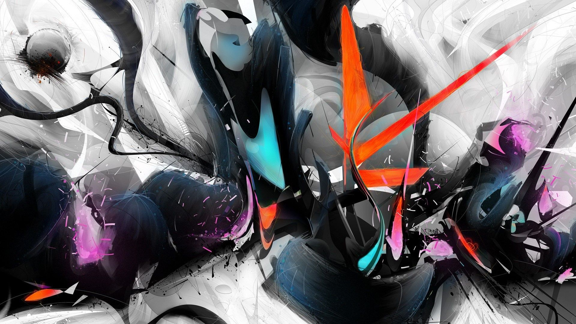 Res 1920x1080 Cool 3d Abstract Wallpapers For Laptops