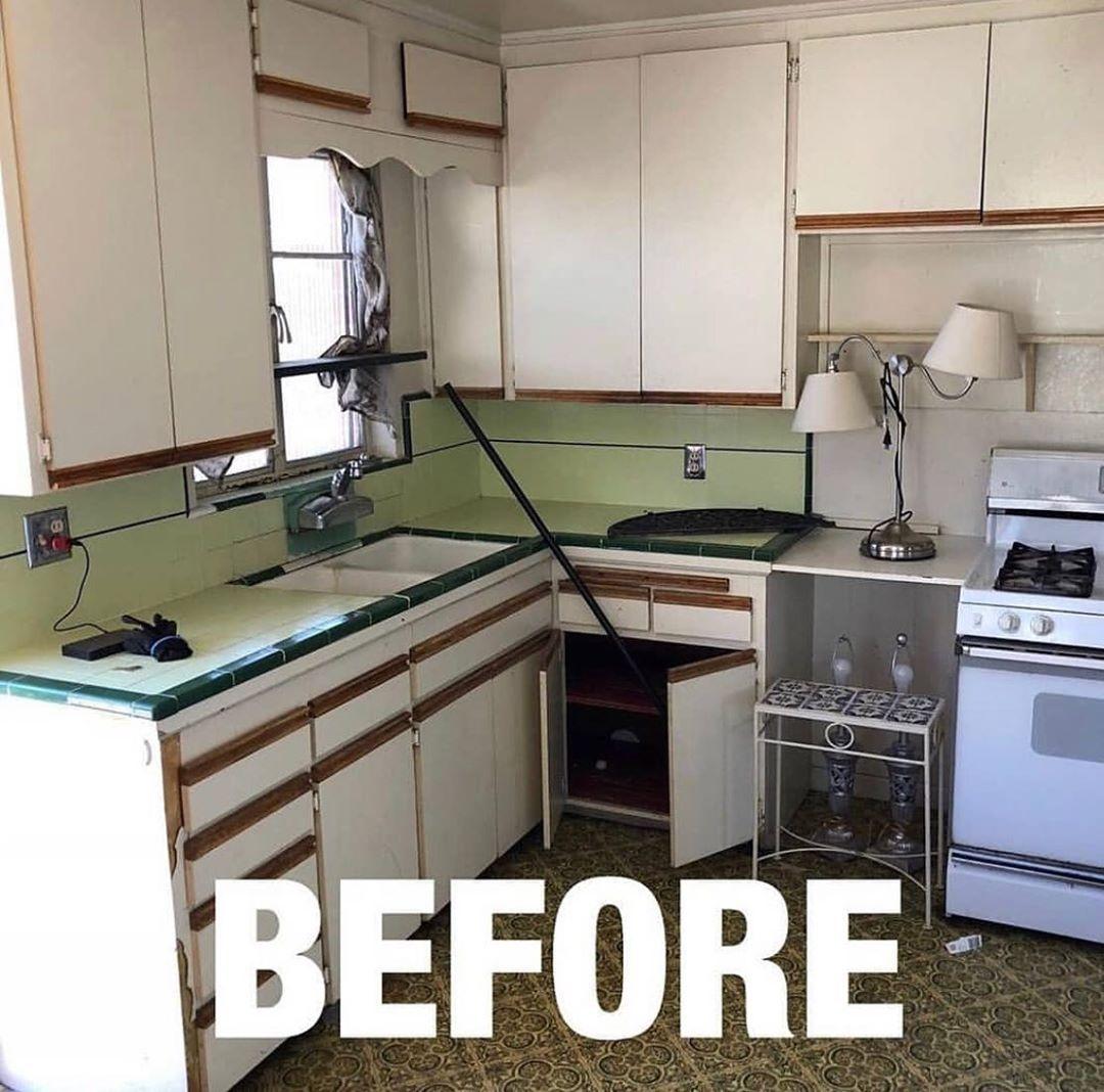 Fixing Objects On Instagram Amazing Kitchen Transformation Dont Forget To Sc Modern Kitchen Design Grey Kitchen Cabinets Makeover Kitchen Transformation