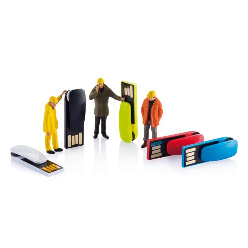 Doc USB stick 2 GB. Doc USB stick is a 2.0 memory flash drive with a very compact body but great performance. The integrated clip can be easily clipped on to something to make sure you'll never lose it.