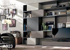 Mobili soggiorno moderni, mobili tv, scaffali e librerie in diverse ...
