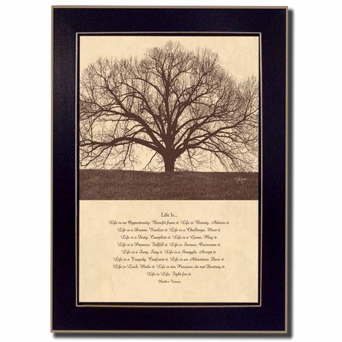 Found it at Wayfair - Life IS by John Jones Framed Painting Print