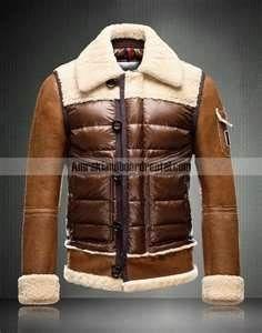 c8f80d233 New Style Moncler Delacroix Men Fur Down Jacket Brown On Sale ...
