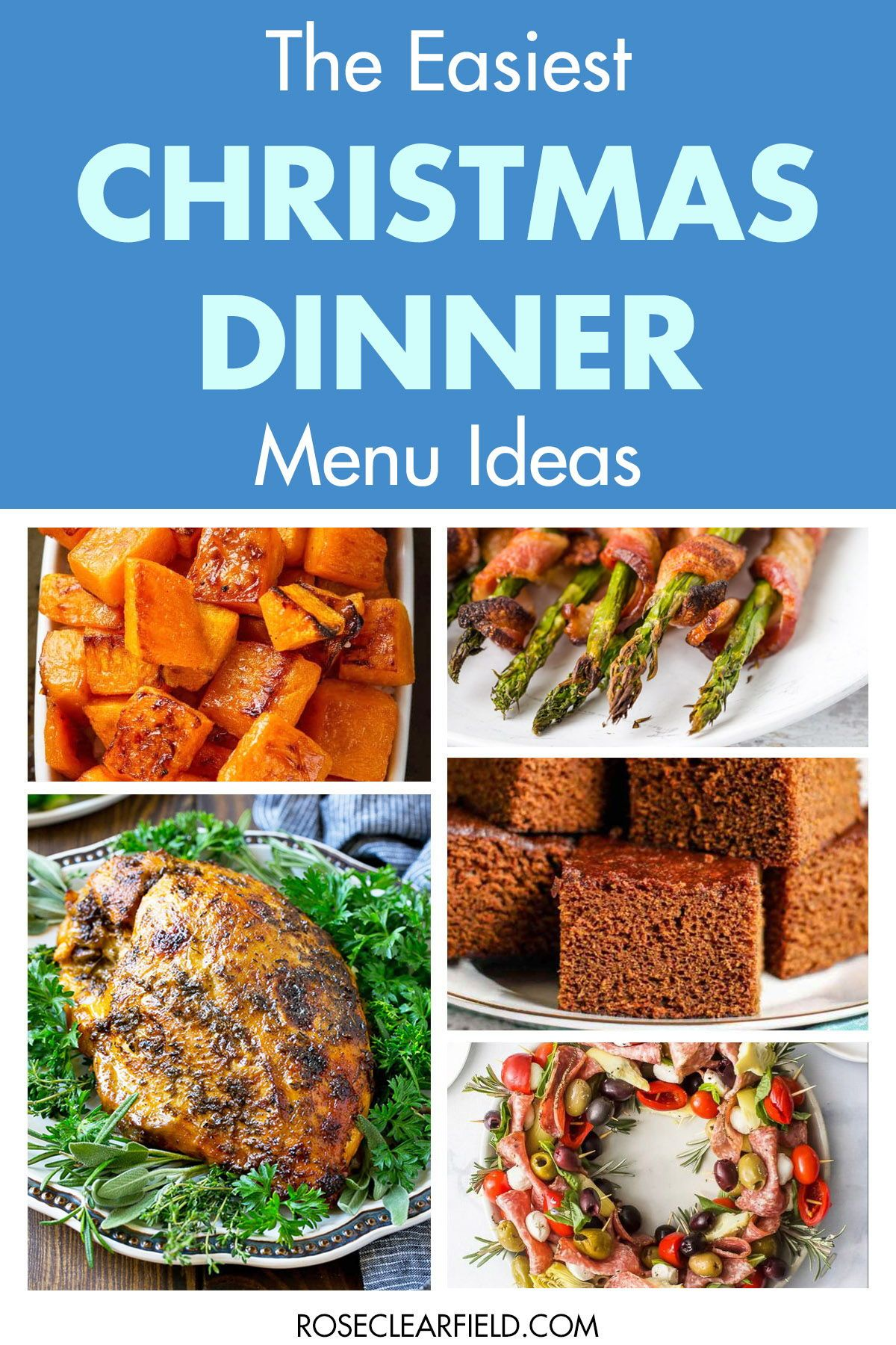 The easiest Christmas dinner menu ideas to create a delicious holiday meal without spending hours in the kitchen! #Christmasdinner #holidaydinnermenu #easyholidaydinnerideas