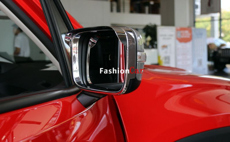 Abs Chrome Car Rear View Mirror Rain Shield Guard Trim For Jeep