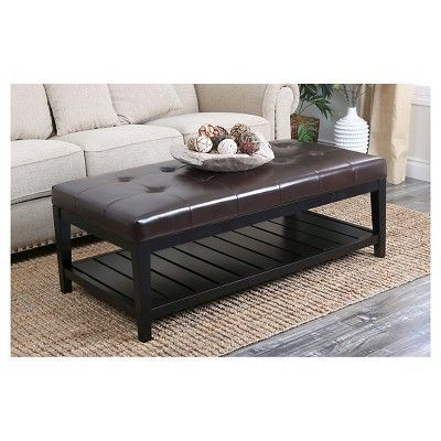 Outstanding Manchester Coffee Table Ottoman Dark Brown Abbyson Bralicious Painted Fabric Chair Ideas Braliciousco