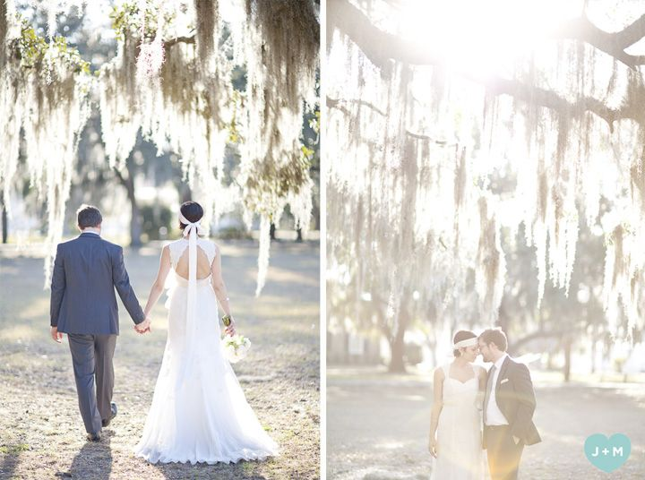 Savannah's Spanish Moss makes the most beautiful backdrop for a wedding!