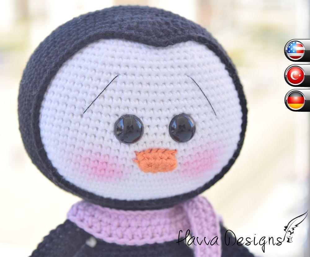 Cute Penguin - Hæklet Mønster | Amigurumi Crochet Patterns af Havva Designs - dine behov Just Imagine