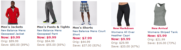 Joe\u0027s New Balance Outlet: Apparel Liquidation $3.99-$9.99 -  FreebiesForACause.com