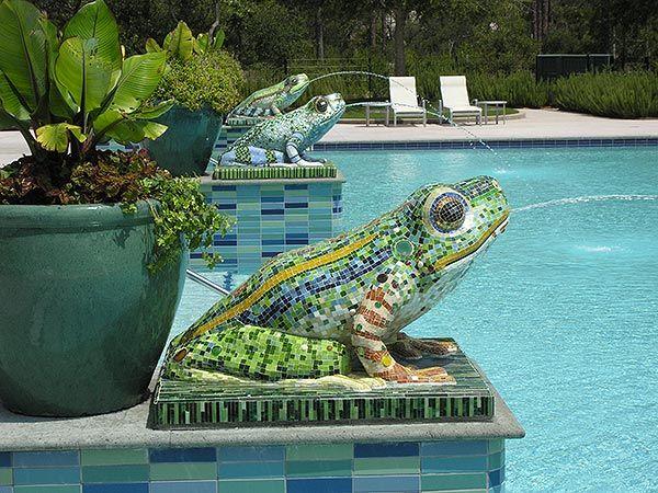 Frog Pool In Watercolor Florida Watercolor Florida Beach