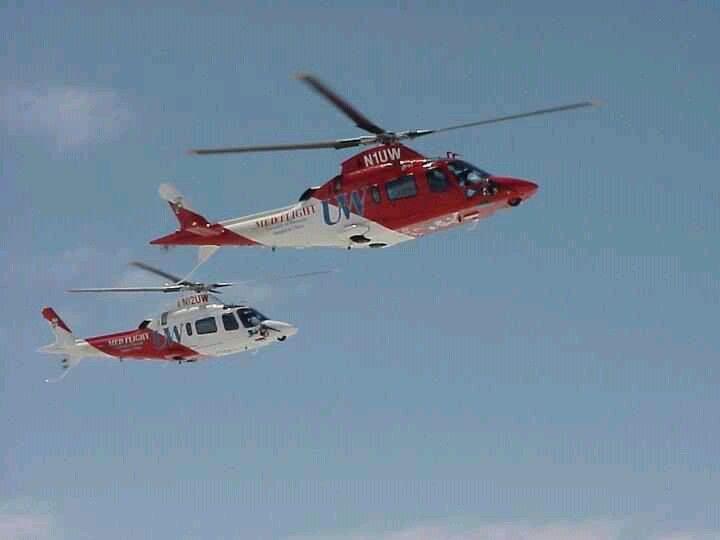 Uw Med Flight Flight Paramedic Helicopter Aviation