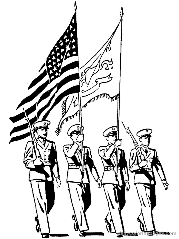 Veteran Coloring Pages