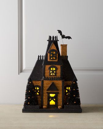 Orange Halloween House at Horchow.$120