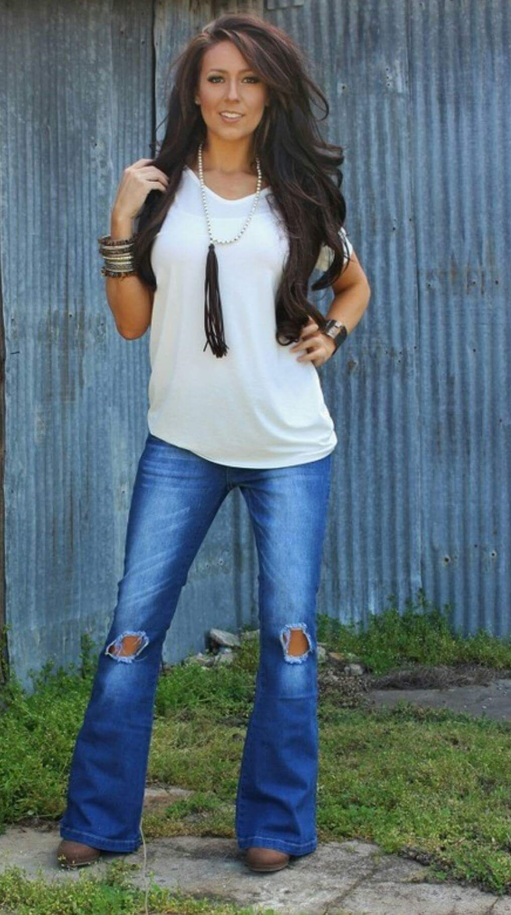 f1d1c9a711bb4 Emily Jane Distressed Jeans - Also in Plus Size