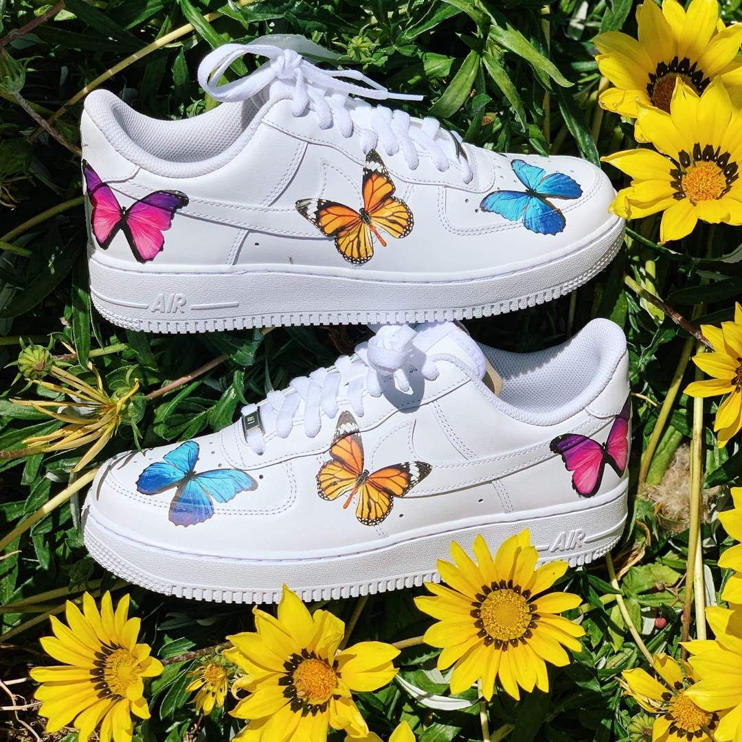 Butterfly Effect AF1 in 2020 Butterfly shoes, Nike air