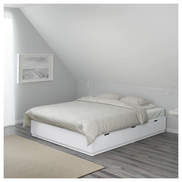 Nordli Cadre Lit Avec Rangement Blanc Ikea Lit Rangement Cadre De Lit Rangement En Dessous Du Lit