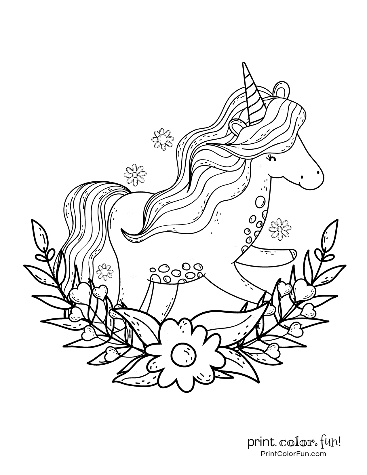 Top 100 magical unicorn coloring pages: The ultimate (free!) printable collection - Print. Color. Fun!