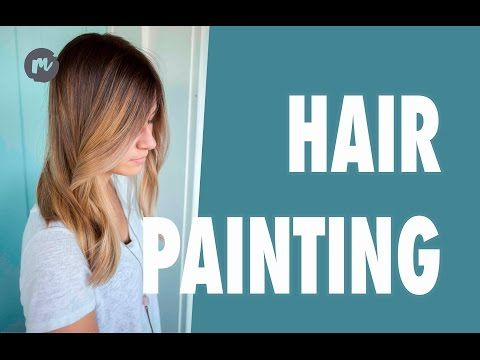 HAIR PAINTING AND PRESSING - YouTube