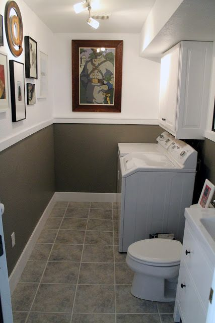 Laundry Room/Half Bath Before and Afters #bathroomlaundry