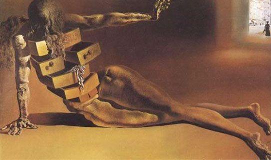 El gabinete antropomórfico - Salvador Dalí. Kunstsammlung Nordrhein-Westfalen, Dusseldorf. 1936