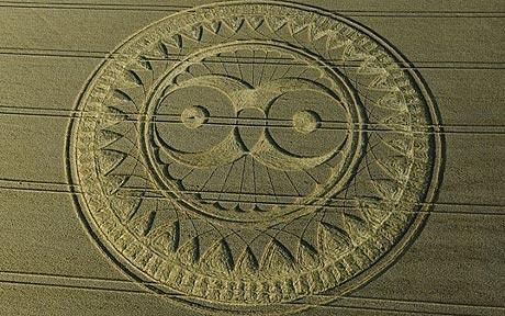 CROP CIRCLE DECODED:  The  Owl symbol of the Freemasons Crop Circle.