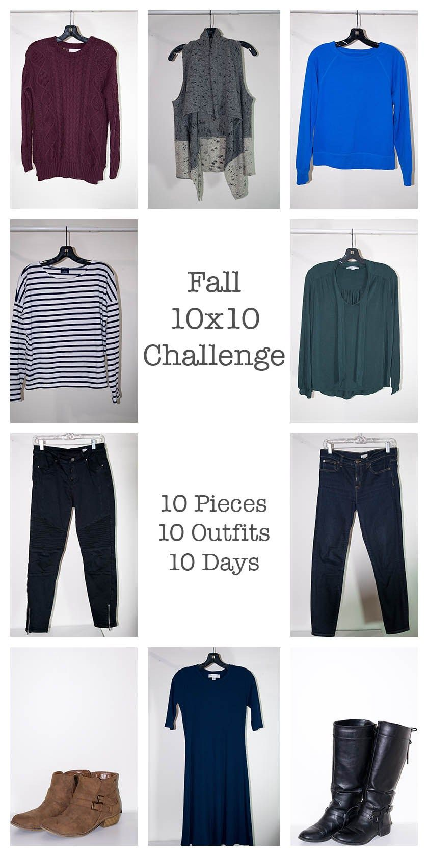 Fall 10x10 Challenge 10 Item Wardrobe Ethical Fashion Fashion