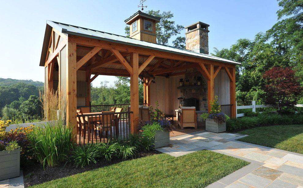 wooden outdoor room