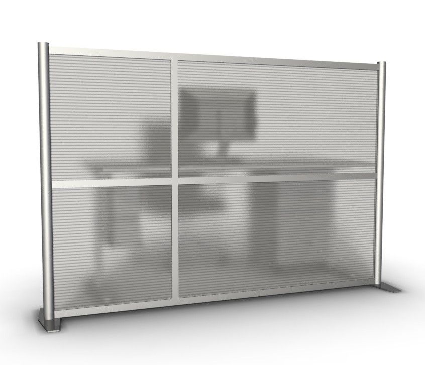 75 Wide X 51 High Office Partition Translucent Modern
