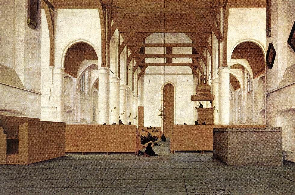 Interior of the Sint-Odulphuskerk in Assendelft, 1649 - Pieter Jansz. Saenredam