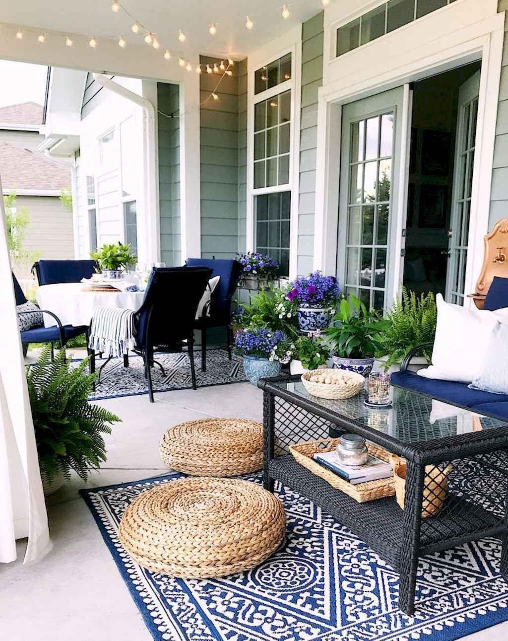relaxing summer backyard patio
