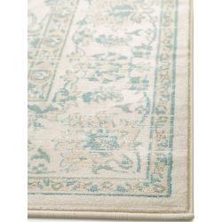 Photo of benuta classic carpet velvet beige / blue 300×400 cm – vintage carpet in used look