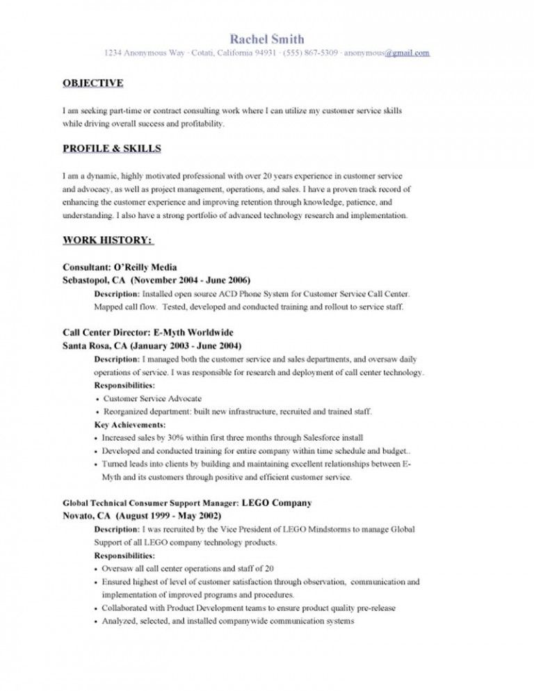 resume objective examples name address phone career international - retail objective for resume