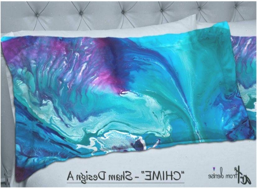 Pillow shams, Bohemian style Master bedroom decor, Dorm room, Purple teal navy blue aqua plum pink, Abstract art Decorative pillows, Bedding #WohnheimRaumdekor #dormroomdecorteal #purpledormrooms
