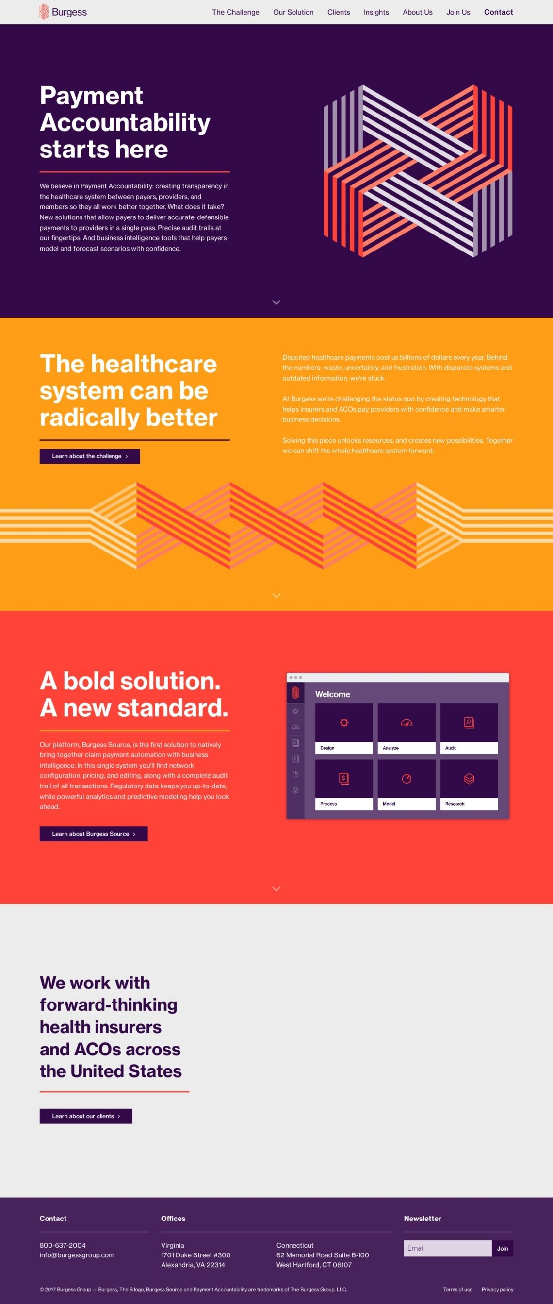 Landing Page Example Burgessgroup Com Best Landing Pages Learn Ux Design Landing Page Inspiration