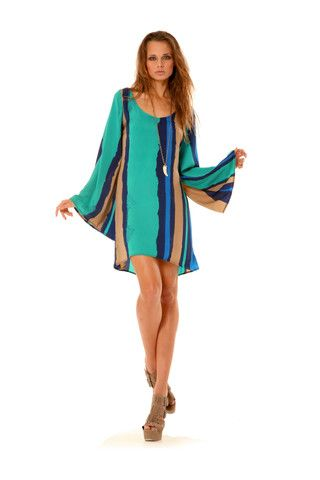 Ramona LaRue Carrina Dress in Blue Stripe - Ramona LaRue - $224.00 - Swank Atlanta COMO BLUSÓN