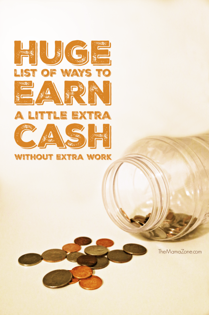 Can you use a little extra cash? Check out this huge (and growing) list of legitimate ways you can earn money and free products with very little extra work.
