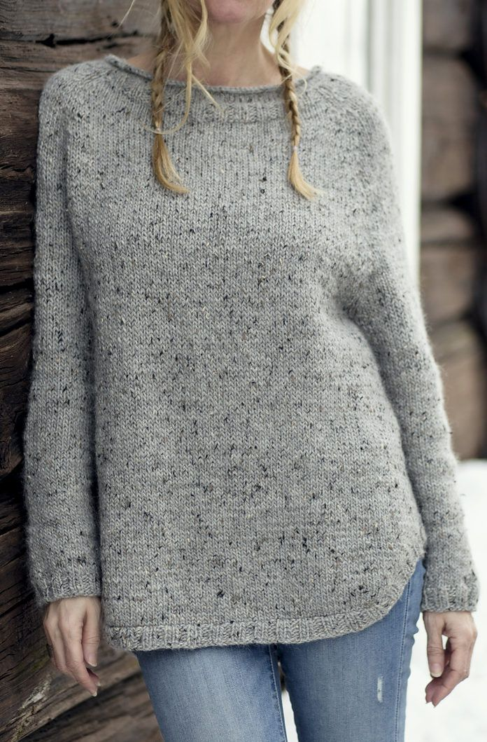 Free until April 1, 2018 Knitting Pattern for Yrsa Sweater - Long ...