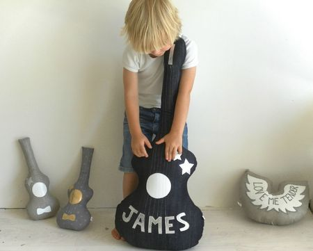 guitar pillows with names