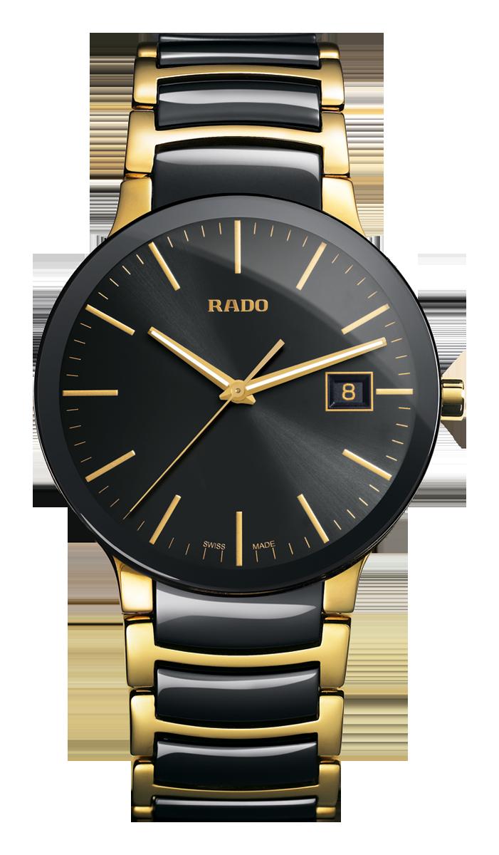 Rado Centrix Black High Tech Ceramic Yellow Gold Pvd Watch Made In Switzerland R30929152 Authori Watches For Men Mens Watches Black Mens Designer Watches