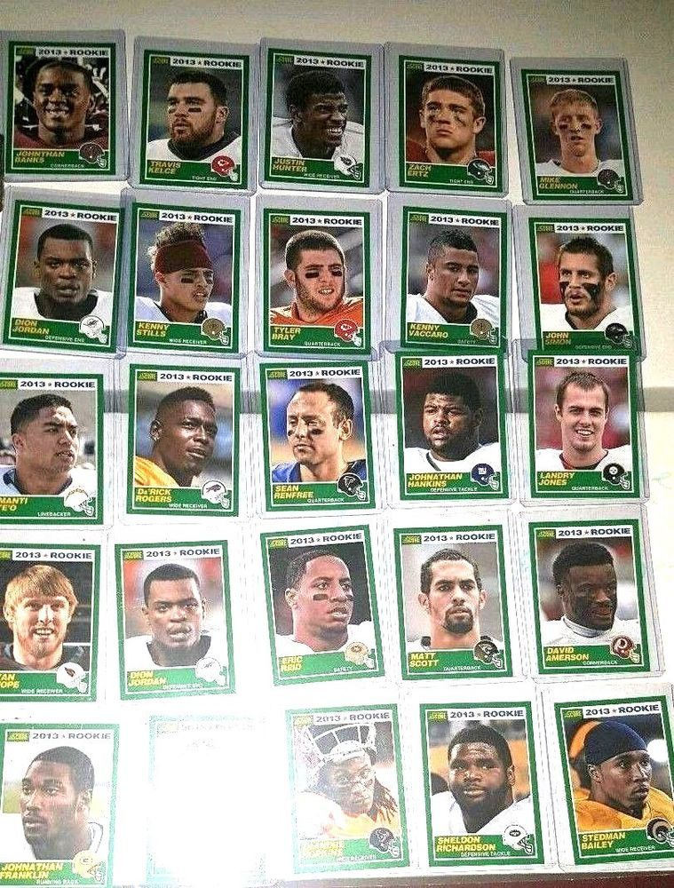 2013 score football rookie card lot of 25 cards with