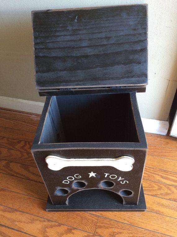 Dog Toy Storage Box With Bone Primitive Dog Toy Storage Dog Toy Box Diy Dog Toys