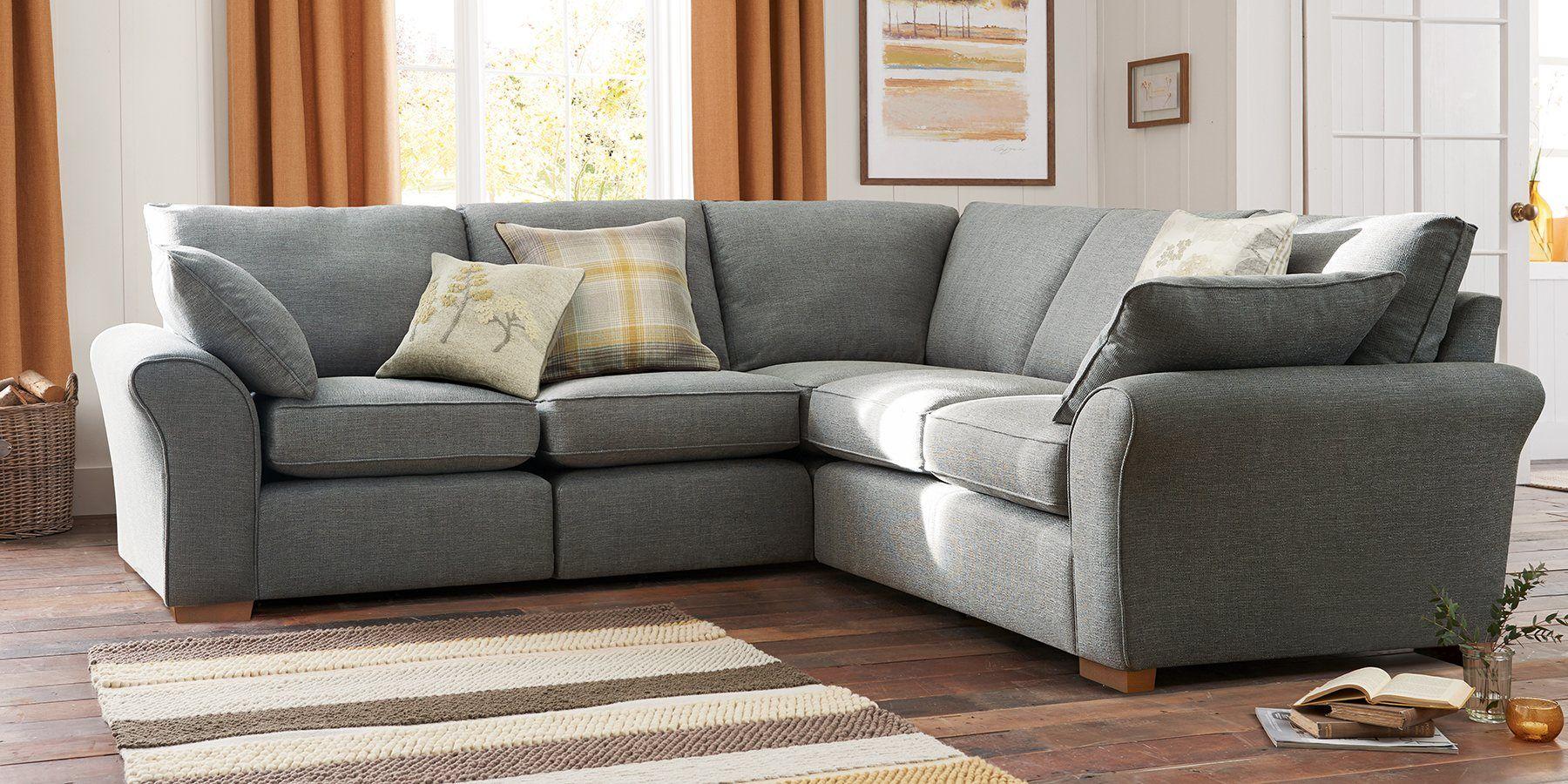Buy Garda Modular Right Hand Double Seat Modular Textured Weave Mid Mink Block Sofa Home Corner Sofa Grey Corner Sofa