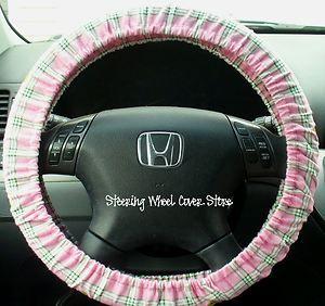 pink john deere car seat covers | Car Steering Wheel Cover Green Pink John Deere Print | eBay