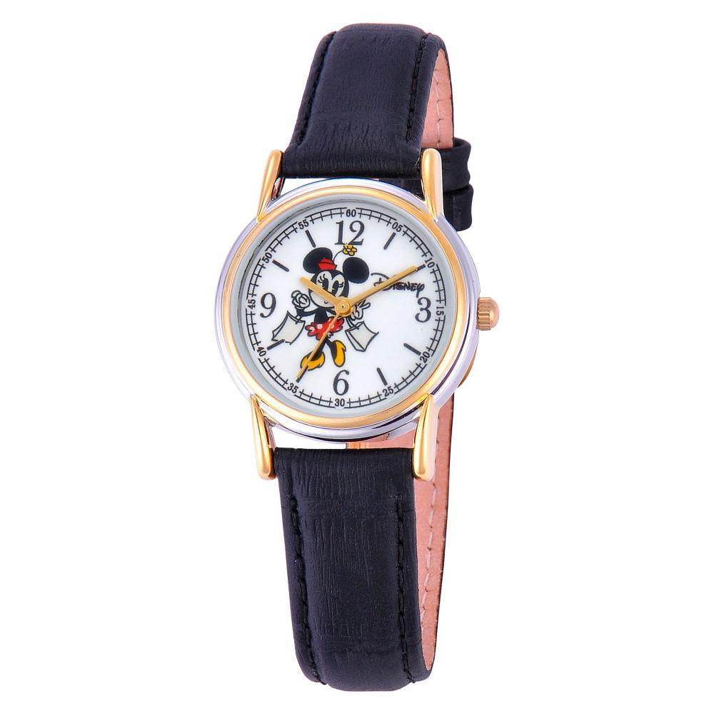 99ae3f21b6c6 Women s Disney Minnie Mouse Cardiff Watch - Black Two-Tone ...