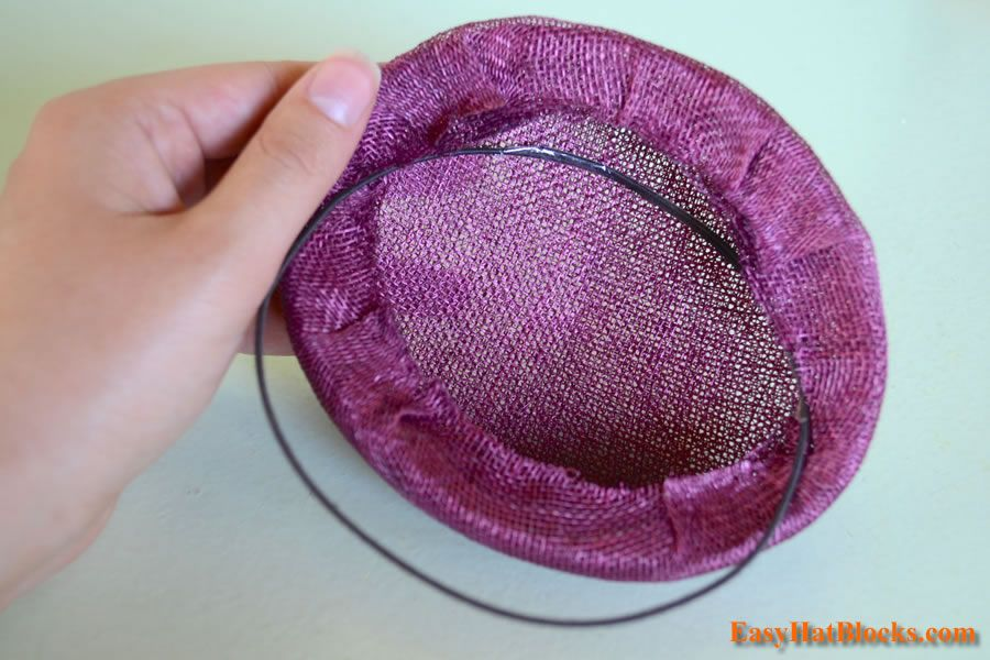 4dcf7a33b ... how to make a sinamay pillbox hat fascinator using a wood hat block. s  or shops that sell sewing supplies. As for the sinamay, millinery wire,