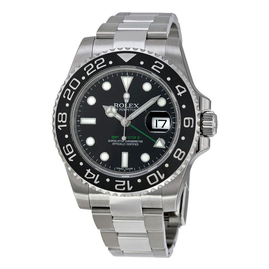 Rolex Gmt Master Ii Black Index Dial Oyster Bracelet Steel Men S Watch 116710ln With Images Rolex Gmt Master Rolex Gmt Master Ii Rolex