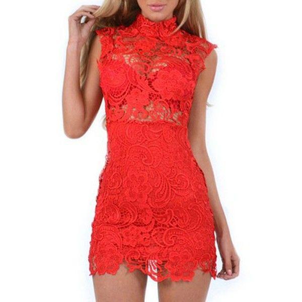 Vestido rojo en organza