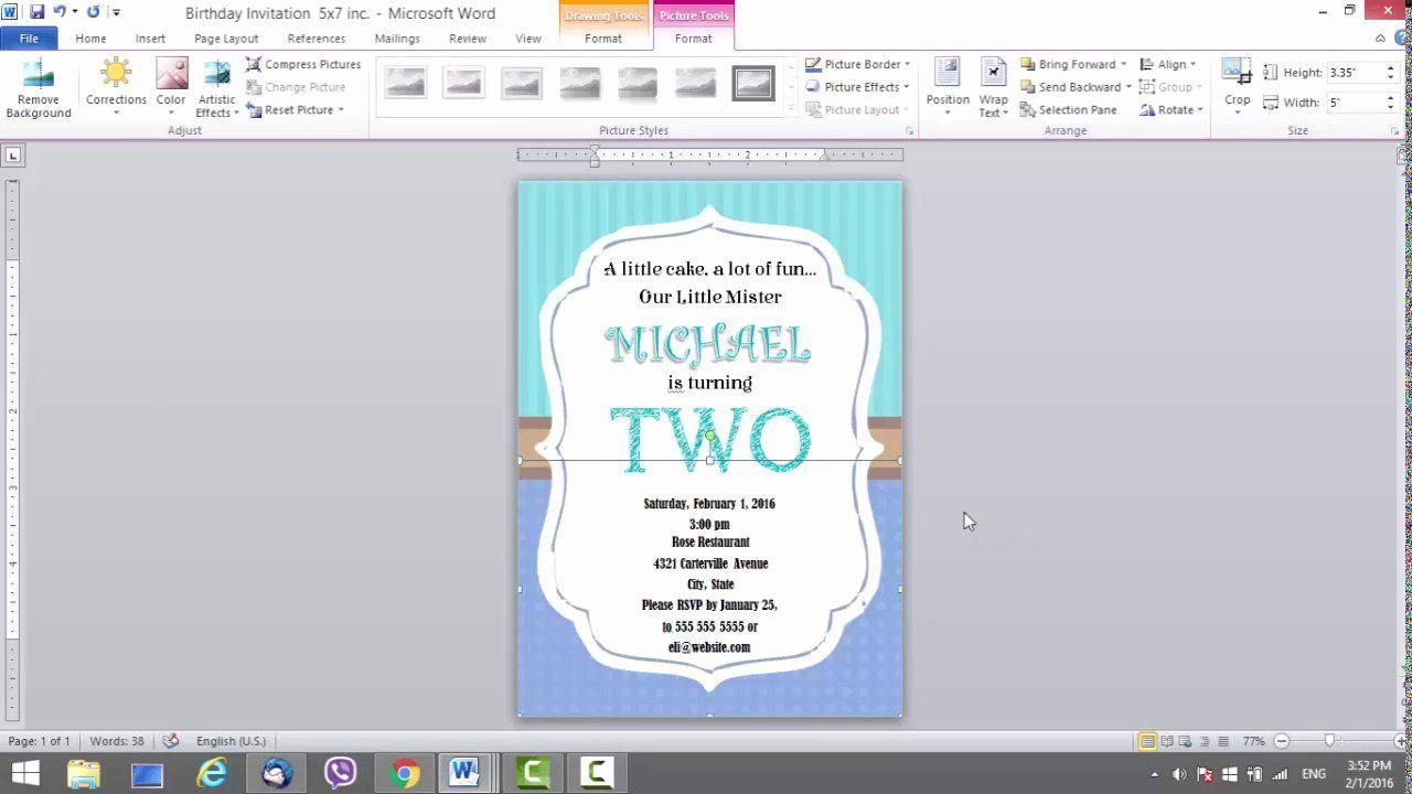 Ms Word Birthday Invitation Template Fresh Birthday Invitation Template In 2020 Birthday Card Template Birthday Invitation Templates Birthday Invitation Card Template