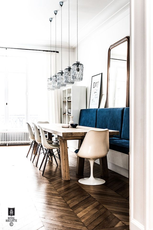 A renovated Parisian apartment Dining, Interiors and Room
