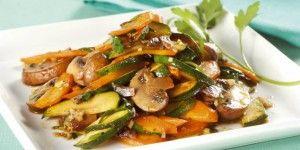 Λαχανικά με μανιτάρια στο τηγάνι